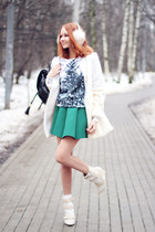 Choies boots - Sheinside coat - Choies sweater - Choies skirt
