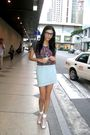 Gray-folded-hung-shirt-green-from-hong-kong-skirt-silver-necklace-pink-n