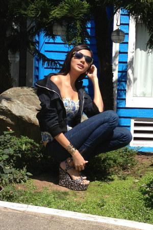 navy denim department store jeans - navy denim Folded & Hung jacket