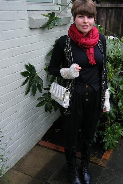scarf - top - IDS vest - kirrilly johnston for max pants - from Sydney boots - t