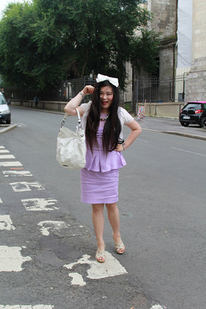 YRBfashion jacket - light purple KOREANSTYLE dress - Burberry bag - Clarks heels