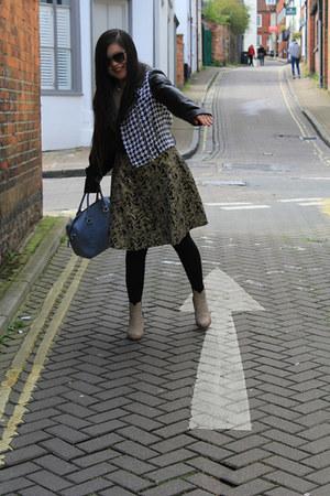 YRBfashion dress - Clarks boots - YRBfashion blazer - armani bag