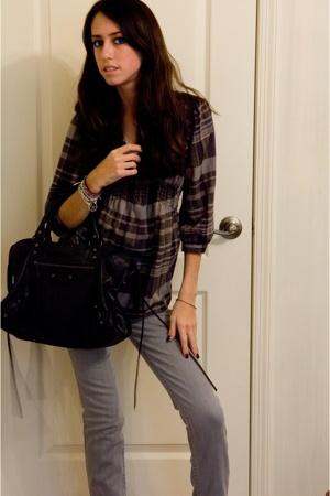 balenciaga purse - Hudson jeans - Urban Outfitters shirt