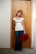 Nanette Lepore top - Gap jeans - Chloe purse - Simply Vera by Vera Wang shoes