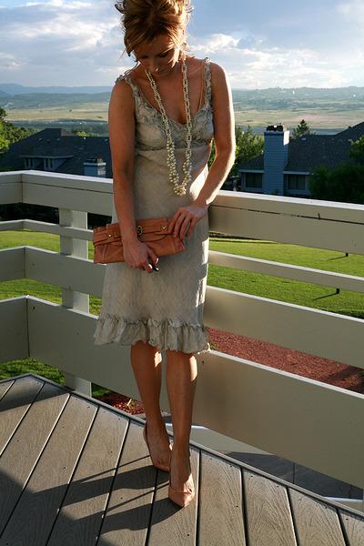Stewart  Brown dress - Simply Vera by Vera Wang necklace - Kooba purse - J Crew