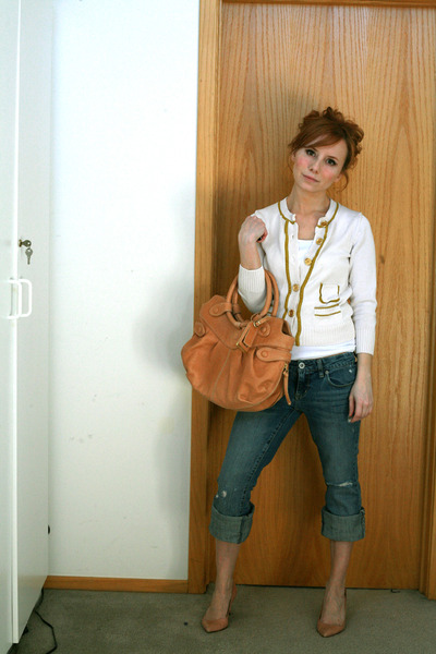 J Crew sweater - botkier accessories - American Eagle jeans - J Crew shoes