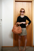 black J Crew shirt - pink J Crew shoes - pink botkier purse