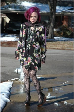 wedges Jeffrey Campbell shoes - dress Betsey Johnson dress - blazer Betsey Johns