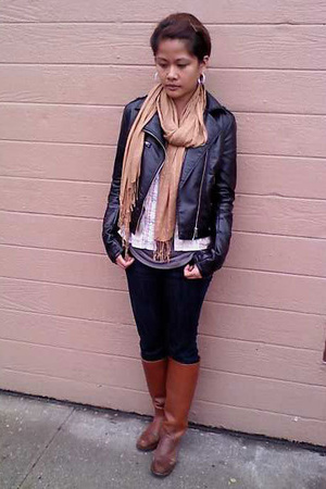 H&M jacket - Express jeans - Frye shoes