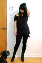 Zara t-shirt - zipia leggings - Payless Shoesource boots