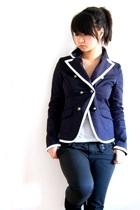 Forever21 blazer - urban behavior top - Zara pants