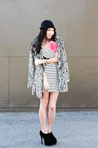 shoemint heels - Forever 21 dress - modcloth coat