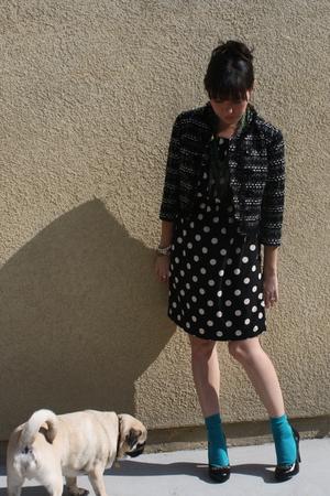 black H&M dress - blue Forever 21 socks - black Christian Siriano for Payless sh