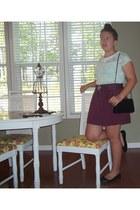 Barneys skirt - Chanel purse - American Eagle flats - Cuddi blouse