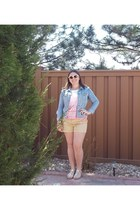 PacSun jacket - Forever 21 shirt - Forever 21 shorts - Aldo sunglasses