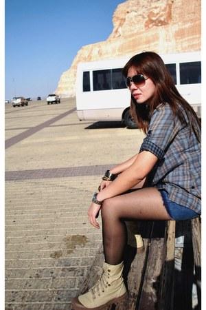 Palladium boots - Ukay Ukay  jacket - Forever21 shirt - tory burch bag - H&M sho