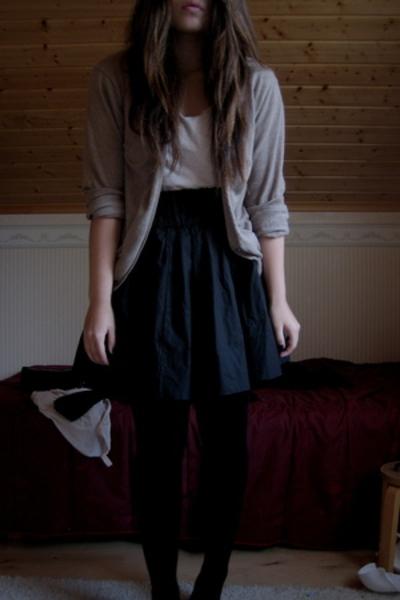 GINA TRICOT blazer - Indiska shirt - H&M skirt