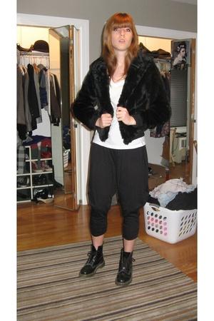 H&M jacket - Target t-shirt - Wet Seal pants - doc martens shoes