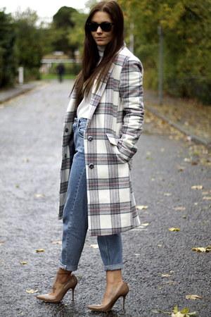 asos coat - Topshop jeans