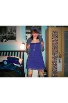 H&M dress - H&M jacket - HUE tights - made it myself hat - vintage necklace