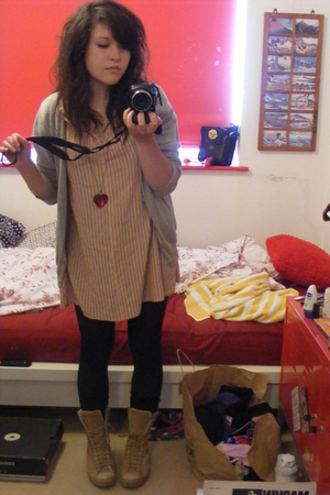 Primark sweater - dress - Converse boots