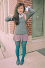 Silver-gilligan-shirt-teal-f21-tights-aquamarine-target-bag