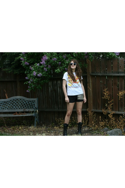 Corcoran boots - DIY thrift shorts - concert t t-shirt db3171bd9b