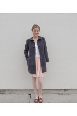 wool handmade coat - cabeknit Urban Outfitters sweater - polka-dot Ebay tights