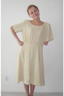 Beige-polka-dot-creme-handmade-dress