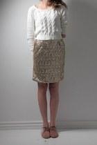 gold handmade skirt