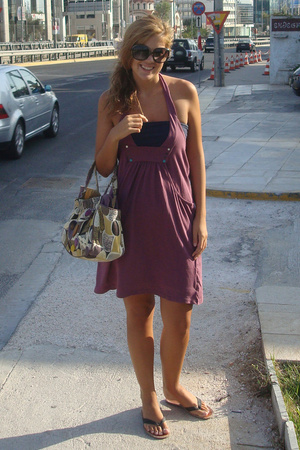 Sprider dress - Bershka top - Accessorize purse - christian dior sunglasses