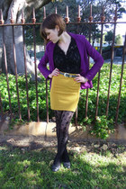 purple purple ponti Happyillusion blazer - black black lace Tokito blouse