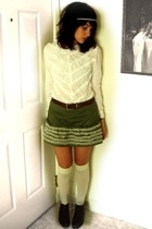 accessories - vintage lilly pulitzer blouse - vintage belt - vintage skirt - soc