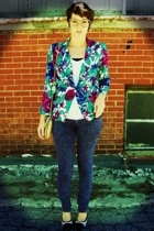 vintage stringbean blazer - Rue 21 jeans - shirt - Rue 21 shoes - harbor distric