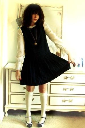 Hunt Club dress - socks - vintage blouse