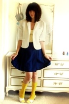 vintage jacket - American Eagle top - vintage skirt - socks - Wet Seal shoes