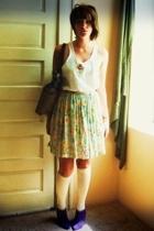 unknown shirt - Robin Sinkler skirt - unknown socks - Moda Spana boots