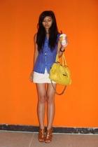 blouse - skirt - purse - shoes