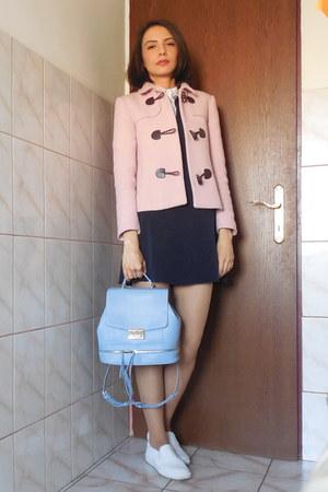 neoprene Zara dress - light pink Zara blazer - poplin Zara shirt - sky blue Zara