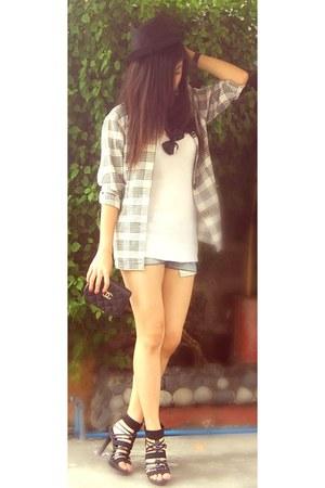 Chanel bag - Japan blazer - Japan heels - hat