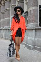 Topshop sandals - Zara dress - brixton hat - By Malene Birger bag