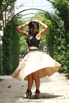 Zara skirt - Miu Miu bag - Mango top