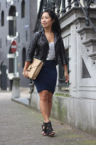 Alexander Wang skirt - Bershka jacket - Sophie Hulme bag - asos top