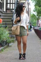 Sophie Hulme bag - Vila shorts - Steve Madden heels