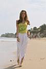 Yellow-chloe-shirt-white-loose-zara-pants-white-jelly-jeffrey-campbell-flats