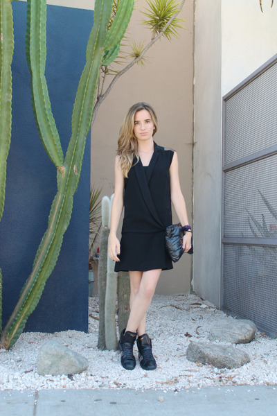 black tuxedo dress SANDRO dress