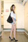 White-sandro-shirt-black-bag-topshop-bag