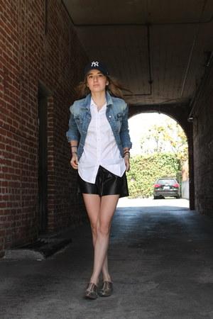 blue yankees hat 47 hat - sky blue denim Zara jacket