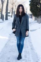 OAK  FORT jacket - rag & bone shoes - citizens of humanity jeans - Mackage purse