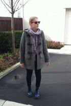 Burberry coat - Dr Martens boots